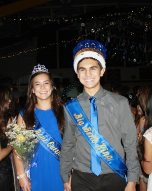 Big Bone King and Queen, Karina Brouse and Daniel Cervantes at the Big Bone Ball on Nov. 21, 2014.