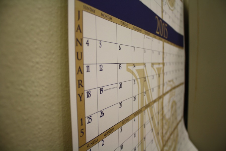 A calendar shows the year 2015. Do not let your days vanish, Lions!