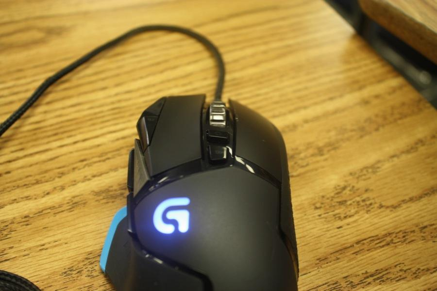 The Logitech G502 in the direct view.