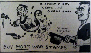 Propaganda satire for the Lincoln Lion Tales Newspaper. Satire against Germany was a common thing back in the early to mid 40's.