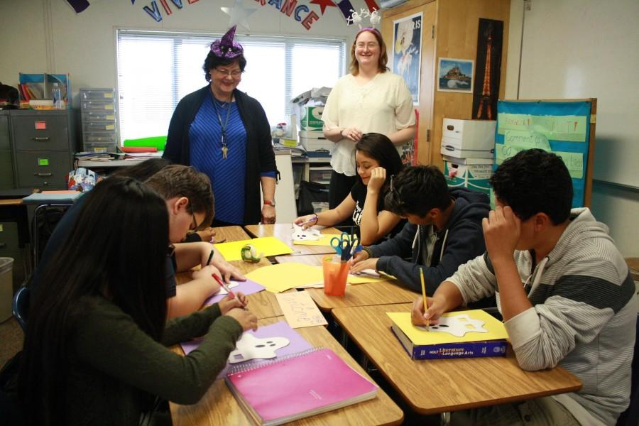 Madame Barbu and Ms. Anne-Elise Barbu watch over their French students ( F. Ramirez / Lion Tales )