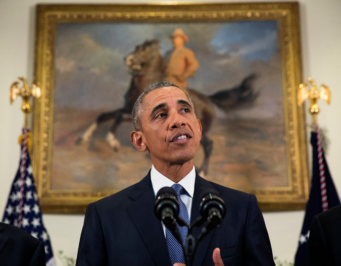 President Obama at the White House. Credit Doug Mills/ The New York Times