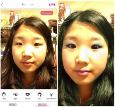 Before & After of Marin Matsune/ YouCam Beauty App