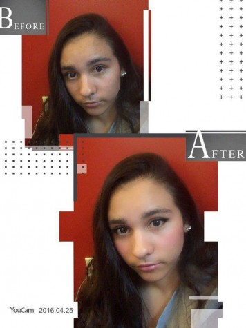 Before & After of Angelina Fernandez/ YouCam Beauty App