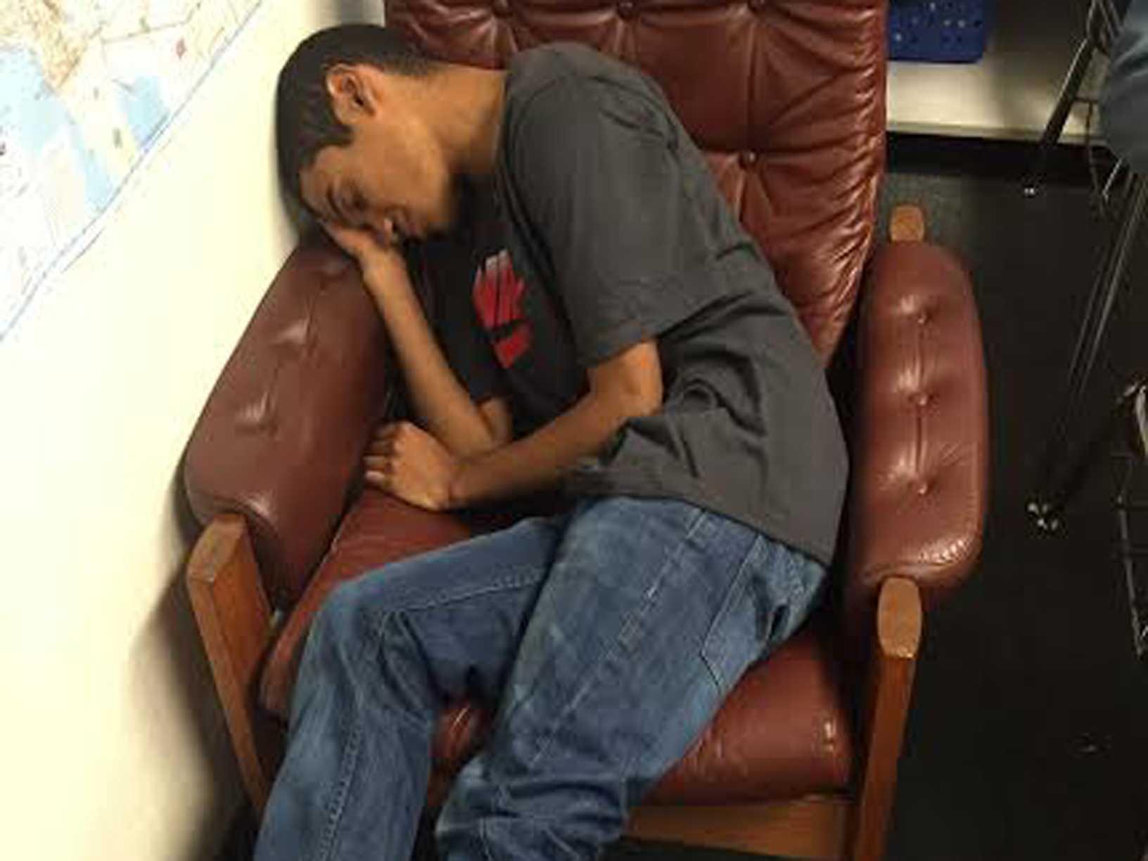 William Quevedo sleeps through class (Jordan Summers/Lion Tales)