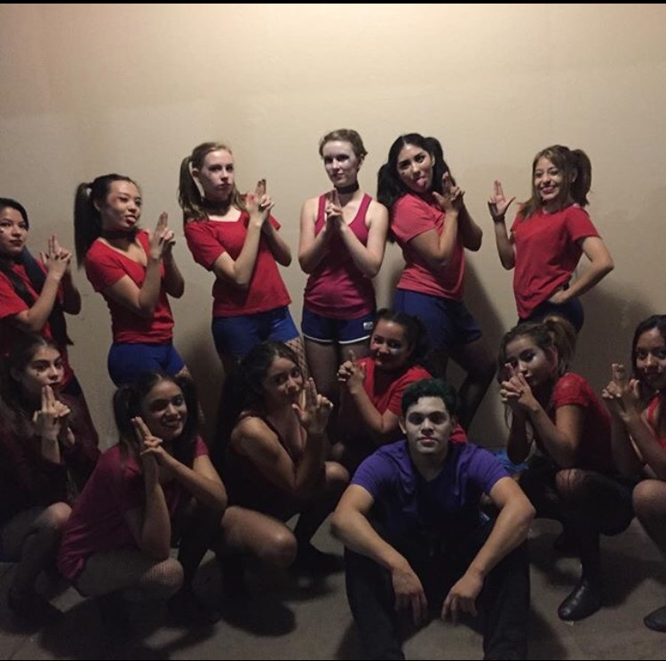 The Intermediate and Advanced group teamed up to perform the movie,