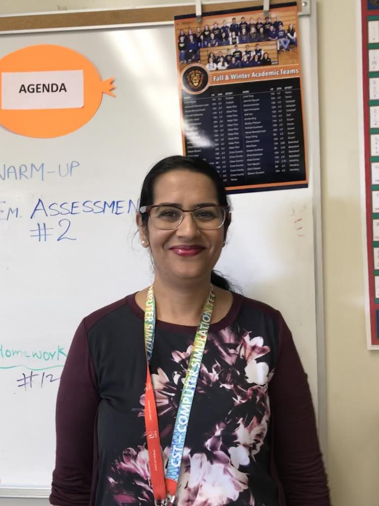 Amar Deep Kaur in her classroom  on October 13, 2017 (Siena  da Costa Pinto/ Lincoln Lion Tales)