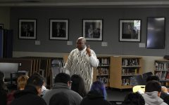 "VIDEO: Mr. Kappia Gives a Presentation to Students About ""Things Fall Apart"""