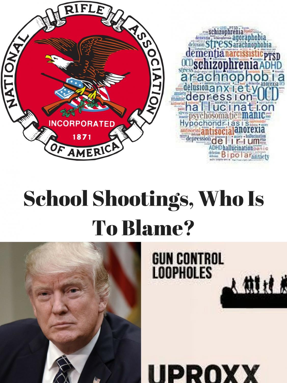 Who is to blame for the deaths of many high schoolers and elementary school students is it our president, is it mental illness, is it the free gun laws, or is it the loopholes within? (Miles Gonzales / for Lincoln Lion Tales)
