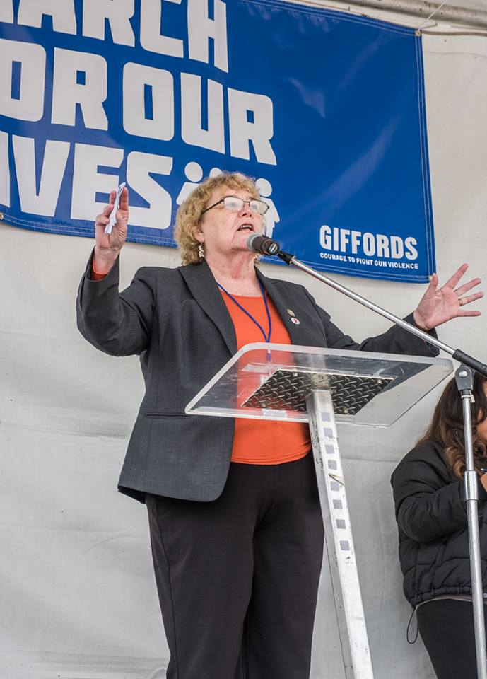 Senator Zoe Lofgren speaks to the crowd. March for Our Lives, San Jose 2018. All photos taken by Mark Shepard.