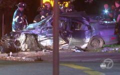 Coche robado de 13 años choca en San José, 5 heridos