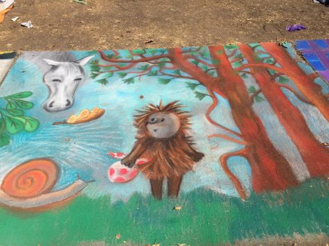 Art created with chalk at the Backesto Park in San Jose as part of the Luna Park Chalk Art Festival at September 15, 2018 (Jennifer Schwarz/Lincoln Lion Tales)