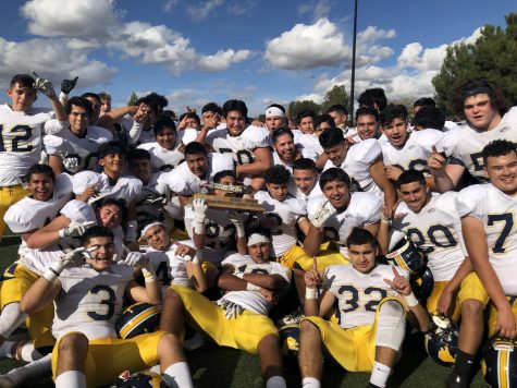 Lions pose with the bone after the 76th annual Big Bone. Bone stays home! Final score: 51-6. The game was on the November 22, 2018. The game was played at Independence High School in San Jose, CA.