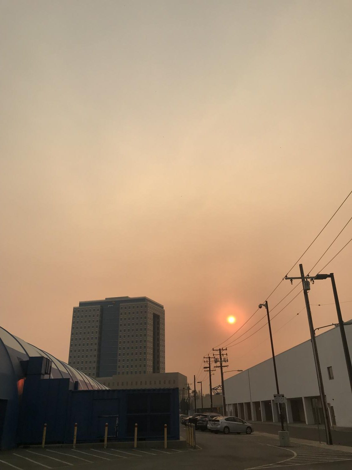 Bad air quality on November 9th at Downtown San Jose  (Anjanai Vallez / Lincoln Lion Tales)