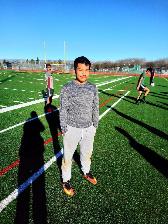 Jesus Marrot during soccer practice. (Isidro Vargas)