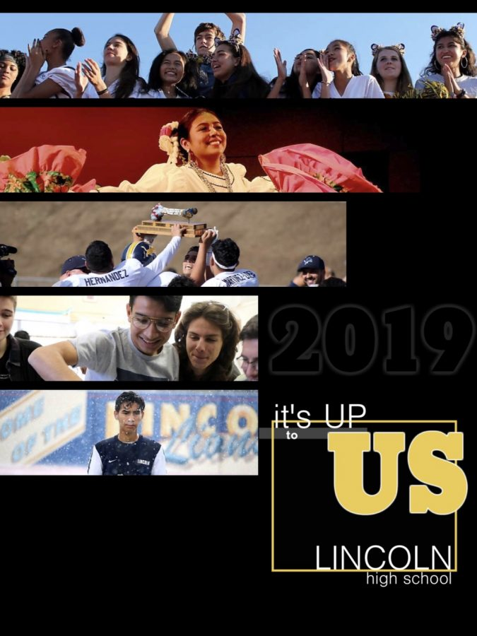 This 2018-2019 yearbook cover. Yearbook on sale now (Monarch Yearbook / for Lincoln Lion Tales).