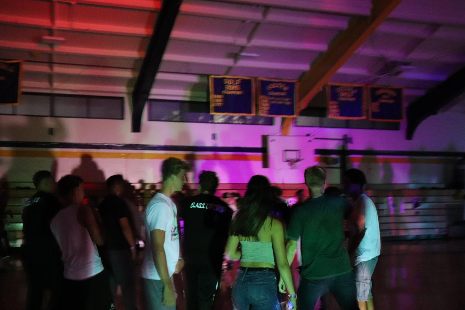 Lincoln students busting a move on the dance floor! While enjoying the music being played at the dance. August 16, 2019 at the Lincoln Gym. (Andrea Saldana/Lion Tales)