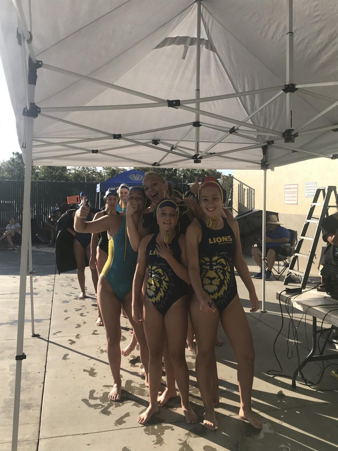 Our JV Water Polo During The Tournament Last Saturday (Tabatha Menten-Lincoln Lion Tales)