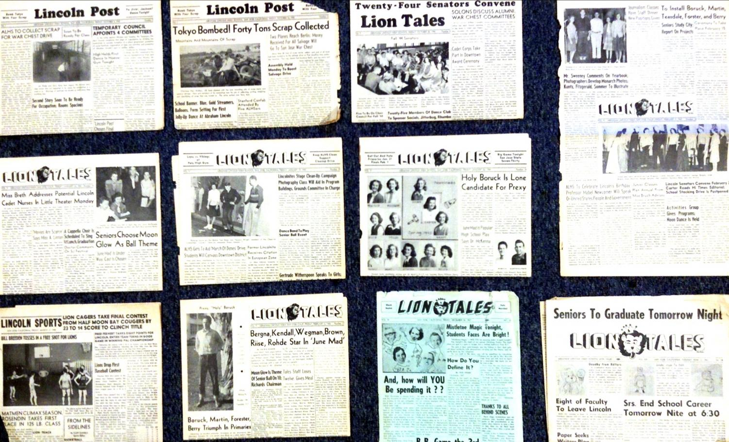 All 11 piece of newspaper that we received. (Edgar Uribe/ Lincoln Lion Tales)