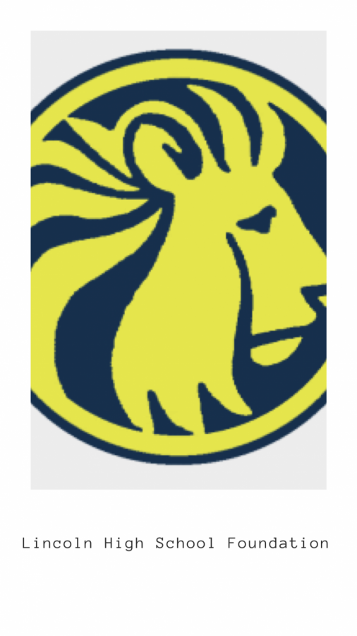 Logo of the Lincoln High School Foundation (Tabatha  Menten/Lincoln Lion Tales)