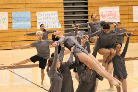 Lincoln High School dance team performing their contemporary piece. West Coast Elite hosted a dance competition at Valley Christian High School. January 18, 2020, Located at Valley Christian High School (Andrea Saldana).