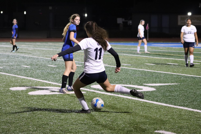 Lincoln girls Varsity soccer playing against Prospect High School. Located at Prospect High School football field (Andrea Saldana).