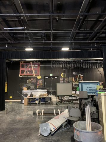 New sets being stored in theatre (Ariana Noble/Lion Tales).