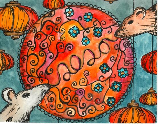 Lunar New Year piece by Nena Chand for the Lunar Art Hop (Sofia Arredondo/ Lincoln Lion Tales)